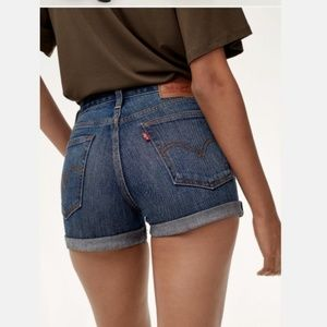 Levi's High Rise Wedgie Fit Shorts in Classic Tint